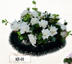 Ритуальная клумба из цветов КЛ-01
