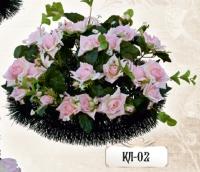 Ритуальная клумба из цветов КЛ-02
