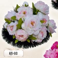 Ритуальная клумба из цветов КЛ-03