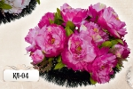 Ритуальная клумба из цветов КЛ-04