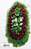 Ритуальный венок из цветов ВЖ-02