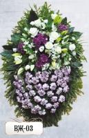 Ритуальный венок из цветов ВЖ-03
