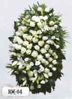 Ритуальный венок из цветов ВЖ-04
