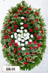 Ритуальный венок из цветов ВЖ-06