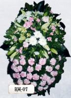 Ритуальный венок из цветов ВЖ-07