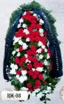 Ритуальный венок из цветов ВЖ-08