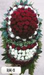Ритуальный венок из цветов ВЖ-11