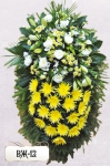 Ритуальный венок из цветов ВЖ-12
