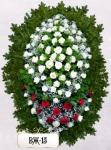 Ритуальный венок из цветов ВЖ-15