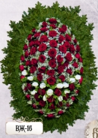 Ритуальный венок из цветов ВЖ-16