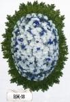 Ритуальный венок из цветов ВЖ-18