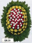 Ритуальный венок из цветов ВЖ-20