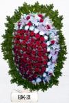 Ритуальный венок из цветов ВЖ-21
