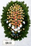 Ритуальный венок из цветов ВЖ-22