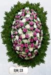 Ритуальный венок из цветов ВЖ-23