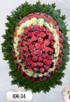 Ритуальный венок из цветов ВЖ-24