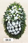 Ритуальный венок из цветов ВЖ-25