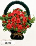Заказная корзина из цветов ЗК-02