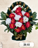Заказная корзина из цветов ЗК-03
